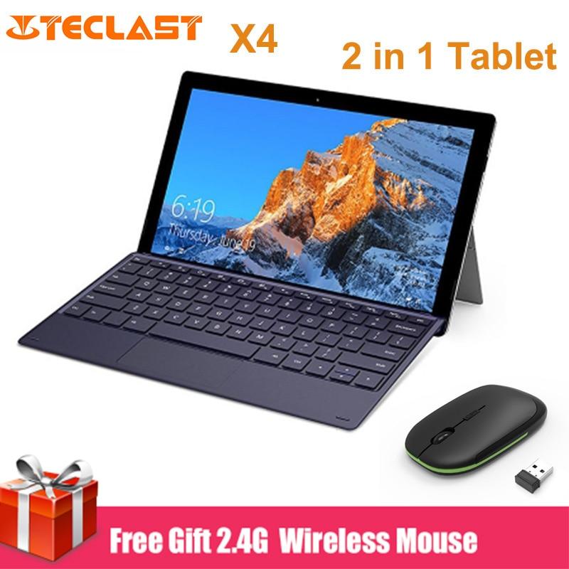 Teclast X4 2 in 1 Tablet PC 11.6 inch Windows 10 Celeron N4100 Quad Core 8GB RAM 128GB SSD Dual Camera HDMI Laptop with Keyboard