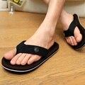 Nuevo 2017 Verano Para Hombre Planos Ocasionales Zapatillas de Hombres Flip flop Playa Zapatos de las sandalias Flip Flop Marca de Ocio Masculino Masaje Suave Hombres O080