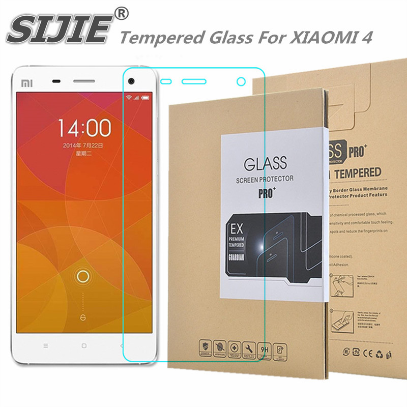 Tempered Glass For XIAOMI 4 MI4 MI 4 5 inch Screen protective cover smartphone case 9H on toughened crystals thin clear plastic