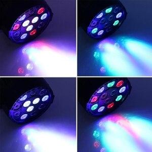 Image 5 - AC 110 2220V 12 LED RGBW LED Stage Light Mixing 8 DMX CH Led Par 12W DMX Par Light Dj Light for KTV Party Disco Family Gathering