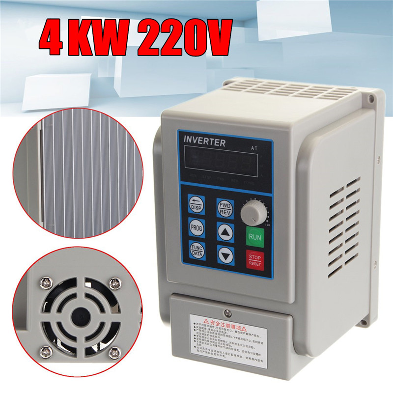 220V 4KW 50HZ/60HZ Variable Frequency Drive Inverter single phase input 3 phase output