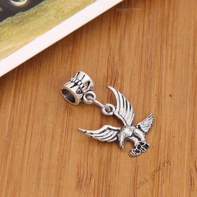 aaa179417 ... wholesale 15 pcs vintage tibetan silver big hole bead fit pandora charm  bracelet diy eagle charms