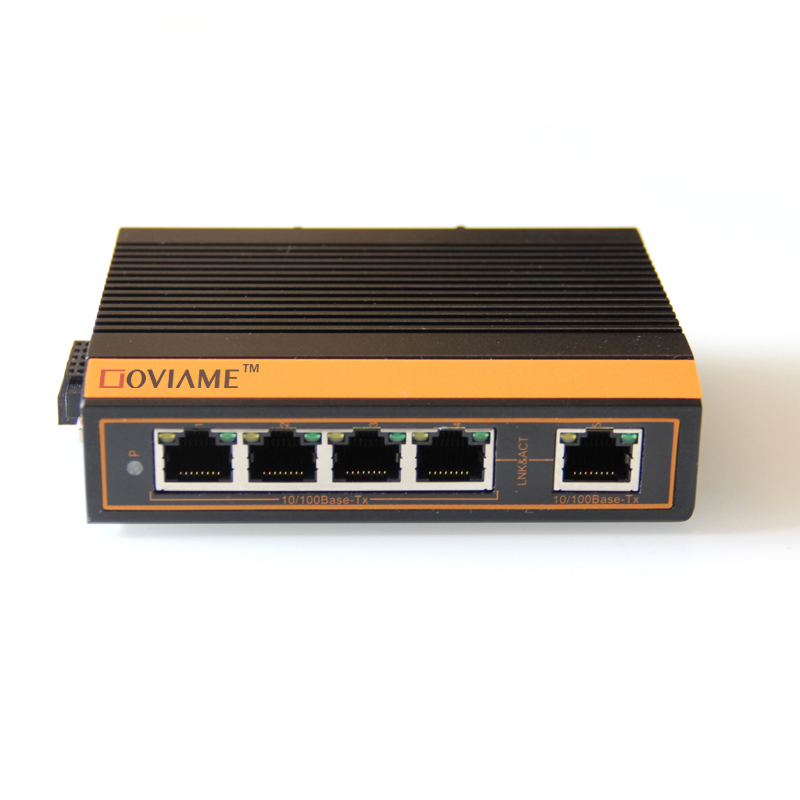 5 ports 10/100Mbps Unmanaged Switch DIN Rail Mounted Industrial Ethernet Switch RJ45 connector,Ethernet Network Switch