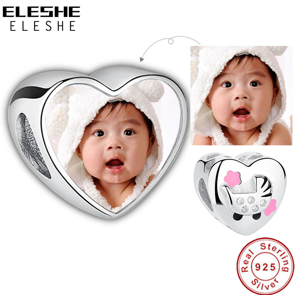 Eleshe Personalized Custom Photo 925 Sterling Silver Baby
