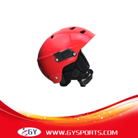 Cabeça esportes capacetes de segurança guarda de água de cor vermelha L/M/S