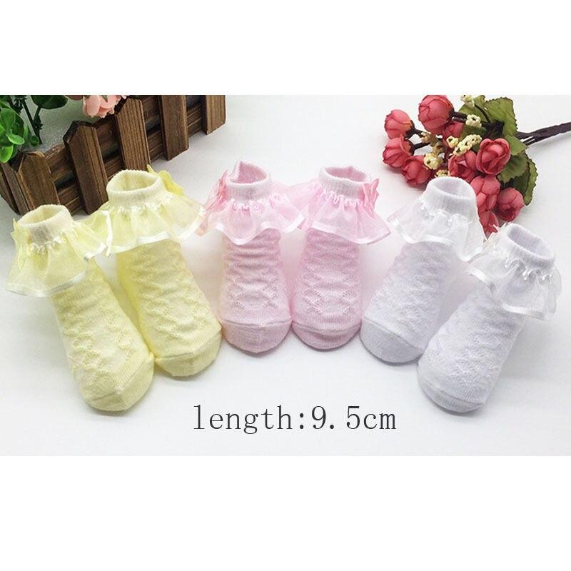 Ausdrucksvoll Heiße Neue 1 Para Nette Non-slip Newborn Kinder Gekämmte Baumwolle Spitze Prinzessin Socken Mädchen Kinder Mode Socken Komfort Socken