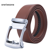 New Brand Designers High Quality Mens Belts Luxury Automatic Buckle Genuine Leather Gray Brown Black for 3.5 Width