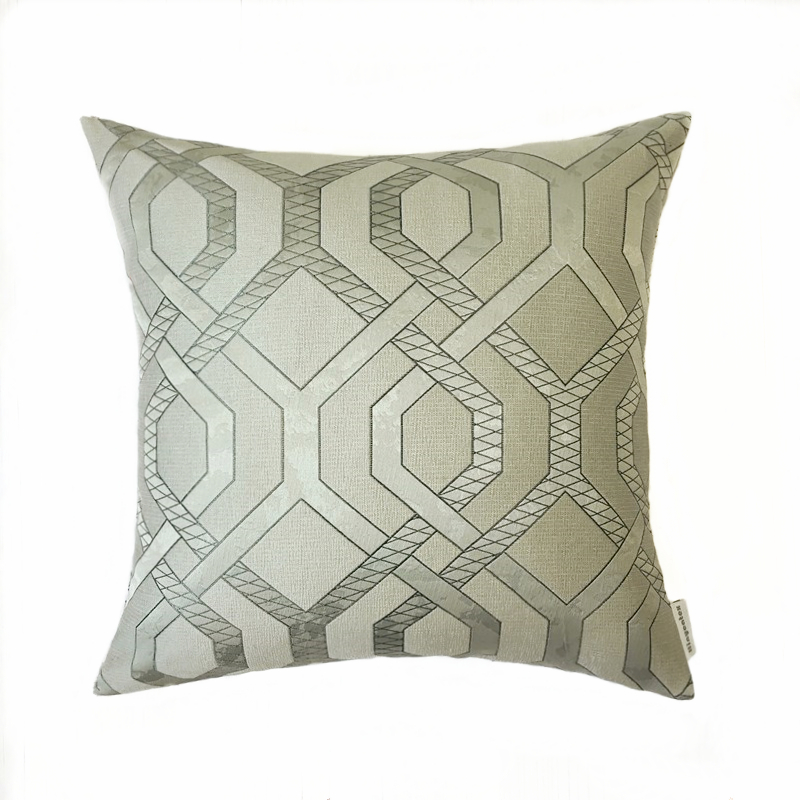 2018 Modern Geometric 3 colors Woven Polyester Jacquard Cushion Cover Decorative Pillow Case 45 x 45 cm Square Sell by piece