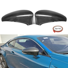 1Pair car styling Carbon Fiber Add-On Side Mirror Cover Caps for Lexus GS350 GS450H GSF 2013-2017 Exterior Accessories