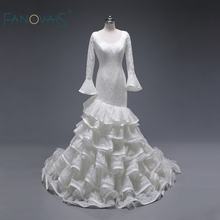 FANOVAIS Real Skirt Princess Flare Sleeves Wedding Dresses