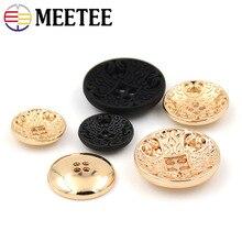 Meetee 10pcs 15-23mm Metal Four-hole Button DIY Men Womens Casual Jacket Windbreaker Coat Buckle Craft Sewing Accessory BD314