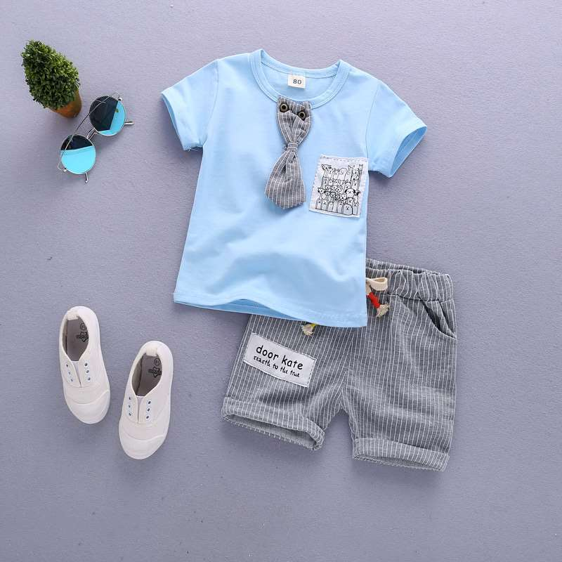 HTB1QXBMbBCw3KVjSZR0q6zcUpXal - Baby Boys Clothing Set Summer Tops Shorts Cotton Children Kids Sport Suit 1st Birthday Costume Toddler Boys Formal Clothes Sets