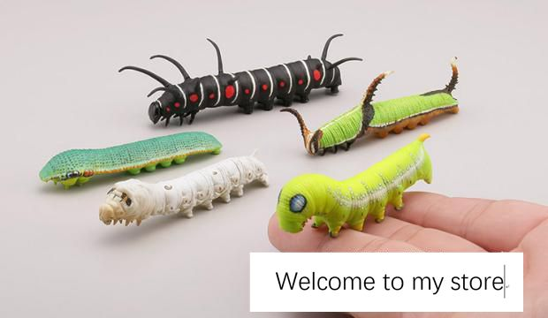 5pcs/lot scene ornaments Figures Toy Software may shaping caterpillar