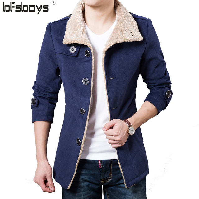 2016 New fashion Cultivate one's morality single-breasted turn-down collar  cloth coat Men  Brand Clothing  B412-Y928