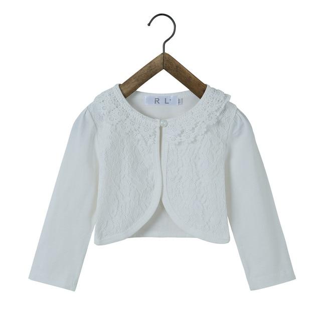 5f401e36ad RL 2019 Girls Jackets for Weddins Fashion Girls Outerwear Pink Cotton Kids  Cardigan Shrug Sweater of 2 3 4 5 6 7 8 9 10 12 Years