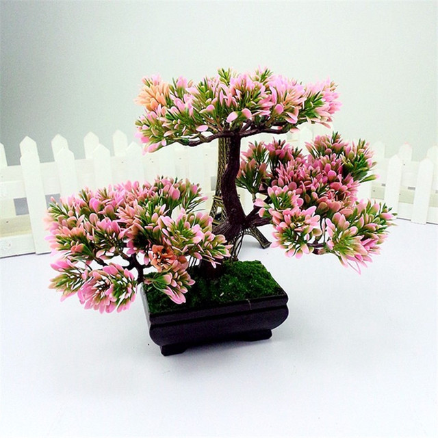 Vintage Home Decor Plants Artificial Decorative Trees Fresh Green Bonsai Seeds FOR Decoration