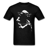 Yıldız Savaşları Yoda Minimal T Gömlek O-Boyun Pamuk Kısa Kollu Özel Tişört Erkekler Hipster Swag XXXL Tee Gömlek Homme