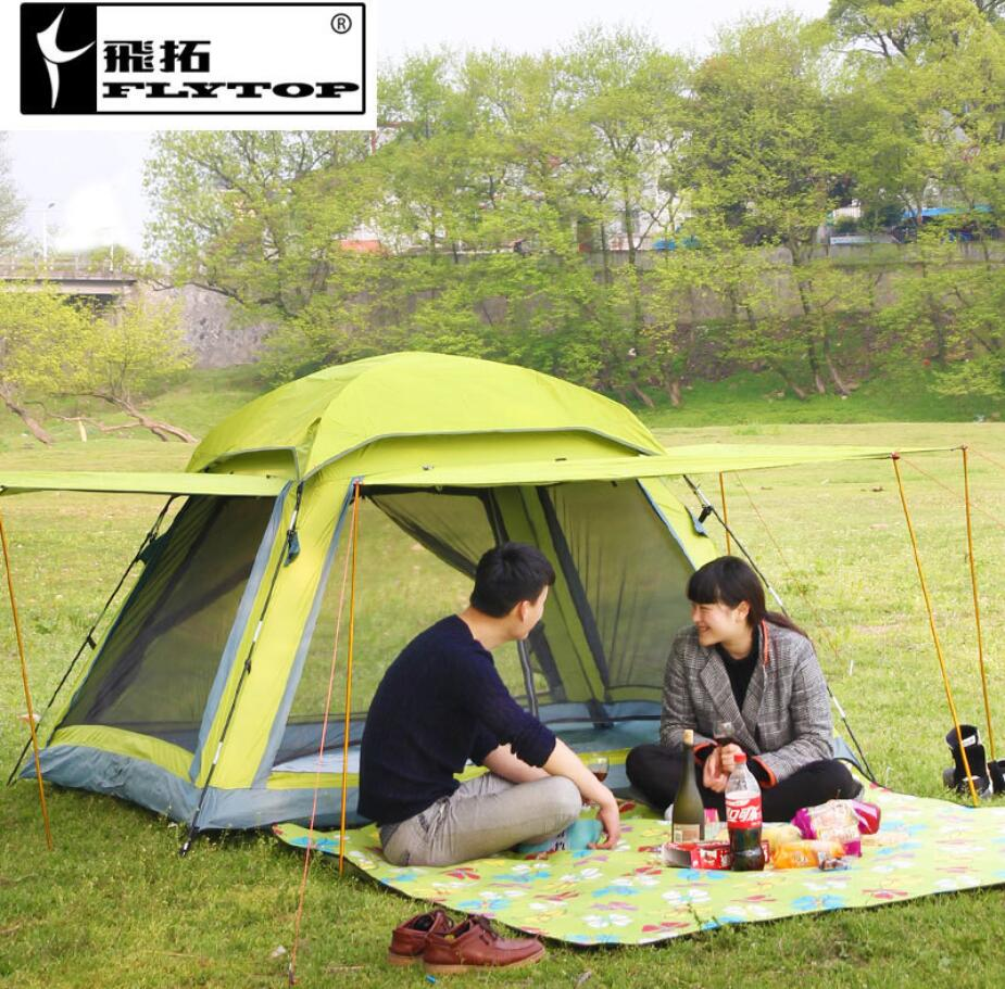 Unti uv ultralight tent 3 4 person double layers travel for Campsites with fishing