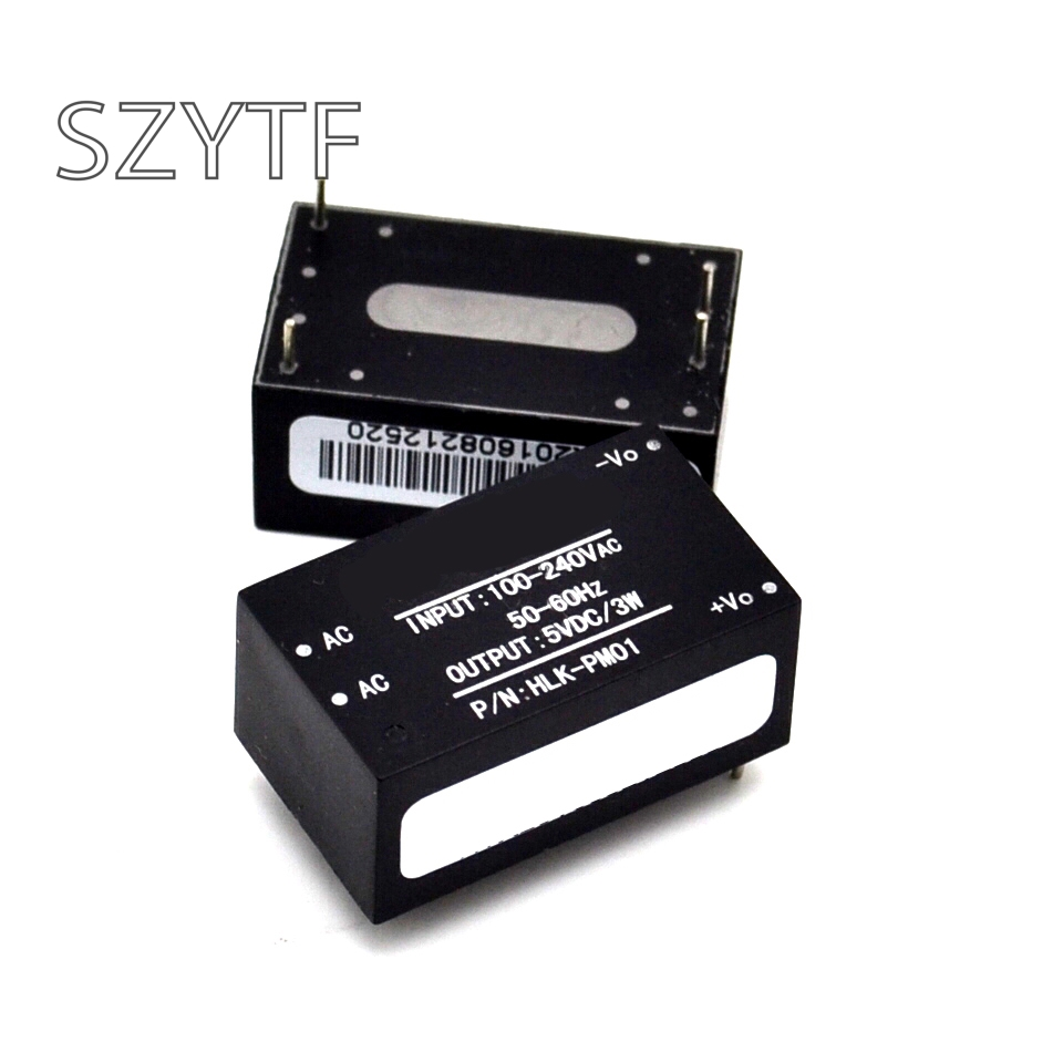 1pcs/lot HLK-PM01 AC-DC 220V To 5V Mini Power Supply Module,intelligent Household Switch Power Supply Module