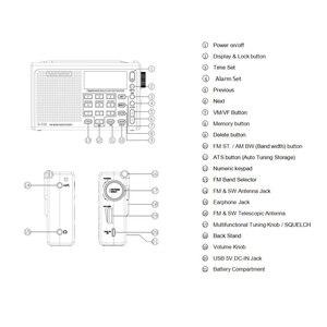 Image 5 - Radiwow Sihuadon R 108 Fm Stereo Digitale Draagbare Radio Geluid Alarmfunctie Display Klok Temperatuur Speaker Als Ouder Gift