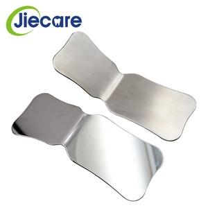 Image 2 - Espejos de fotografía de acero inoxidable para dentistas, Reflector de ortodoncia Intra Oral de doble cara, lavable con autoclave, 1 unidad
