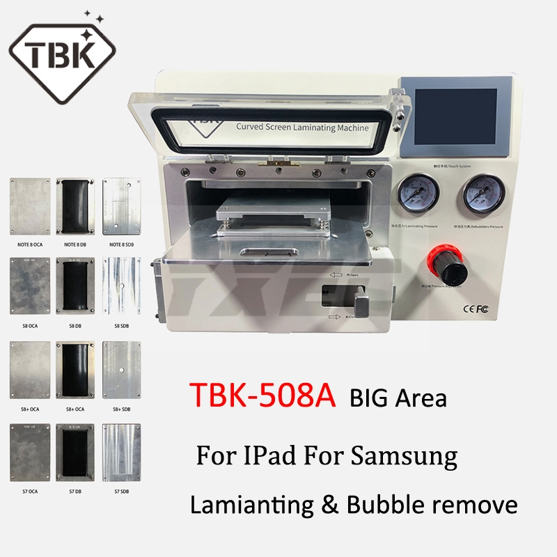 2019 TBK 508A Curved LCD Screen Vacuum Laminating Machine for Sumsung iPhone iPad S9 S9+ Edge LCD OCA Repair bubble remover