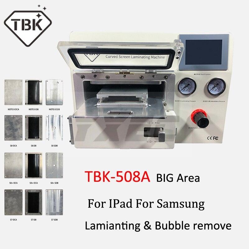 2019 TBK-508A Curvo Tela de LCD Máquina de Vácuo de Laminação para Sumsung iPhone iPad S9 S9 + Borda LCD Repair OCA bolha removedor