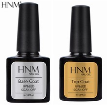 HNM 8ml 2 pezzi/lottp Base prodotti per superficie e smalti Nail Primer, Base trucco Set Smalto Del Gel Soak off Semi Permanente di UV Del Gel Del Chiodo top di Base Del Gel Del Chiodo di Vernis(China)