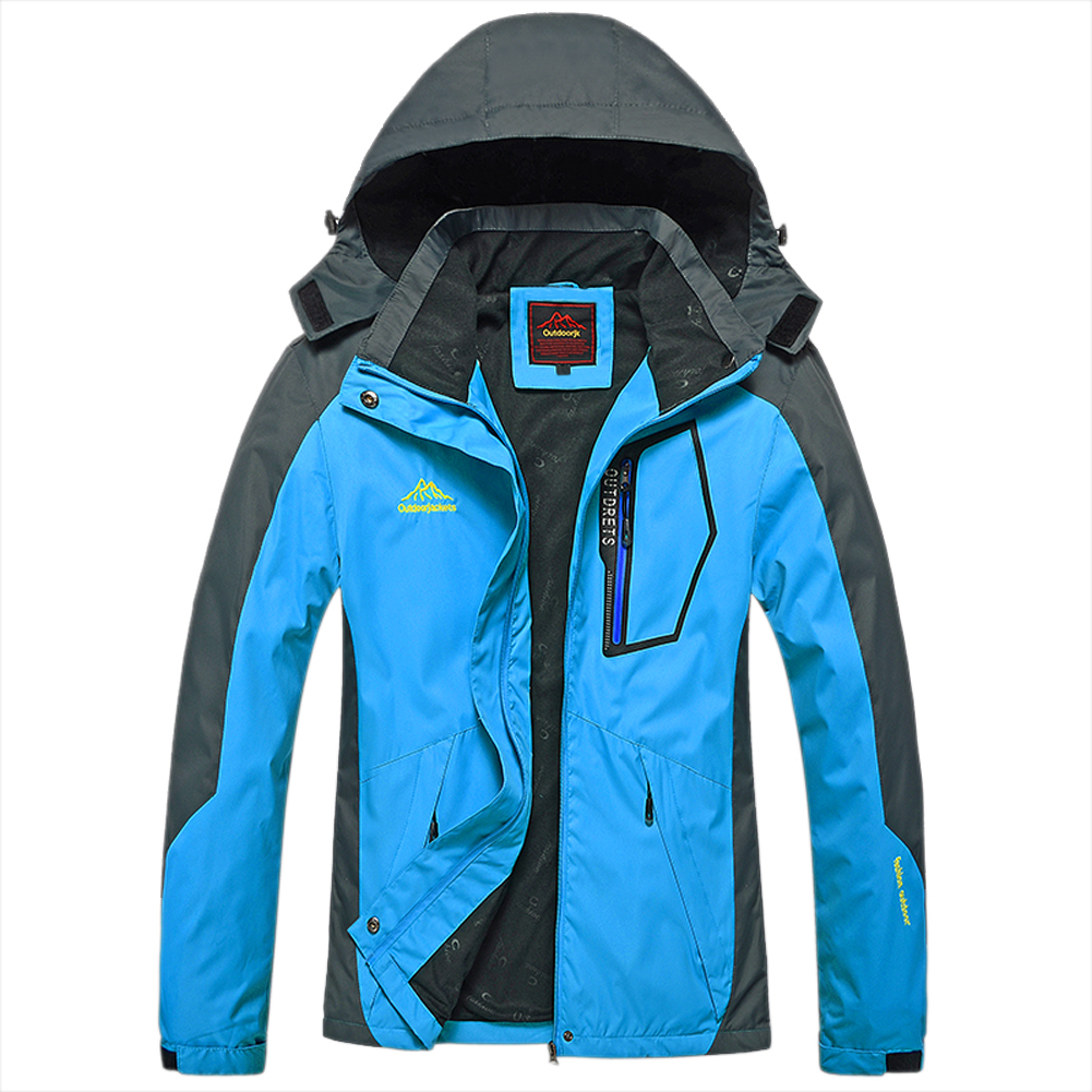 Spring autumn Women Outdoor jacket Windproof Camping Hiking sports coat fishing tourism mountain jackets waterproof women blue M