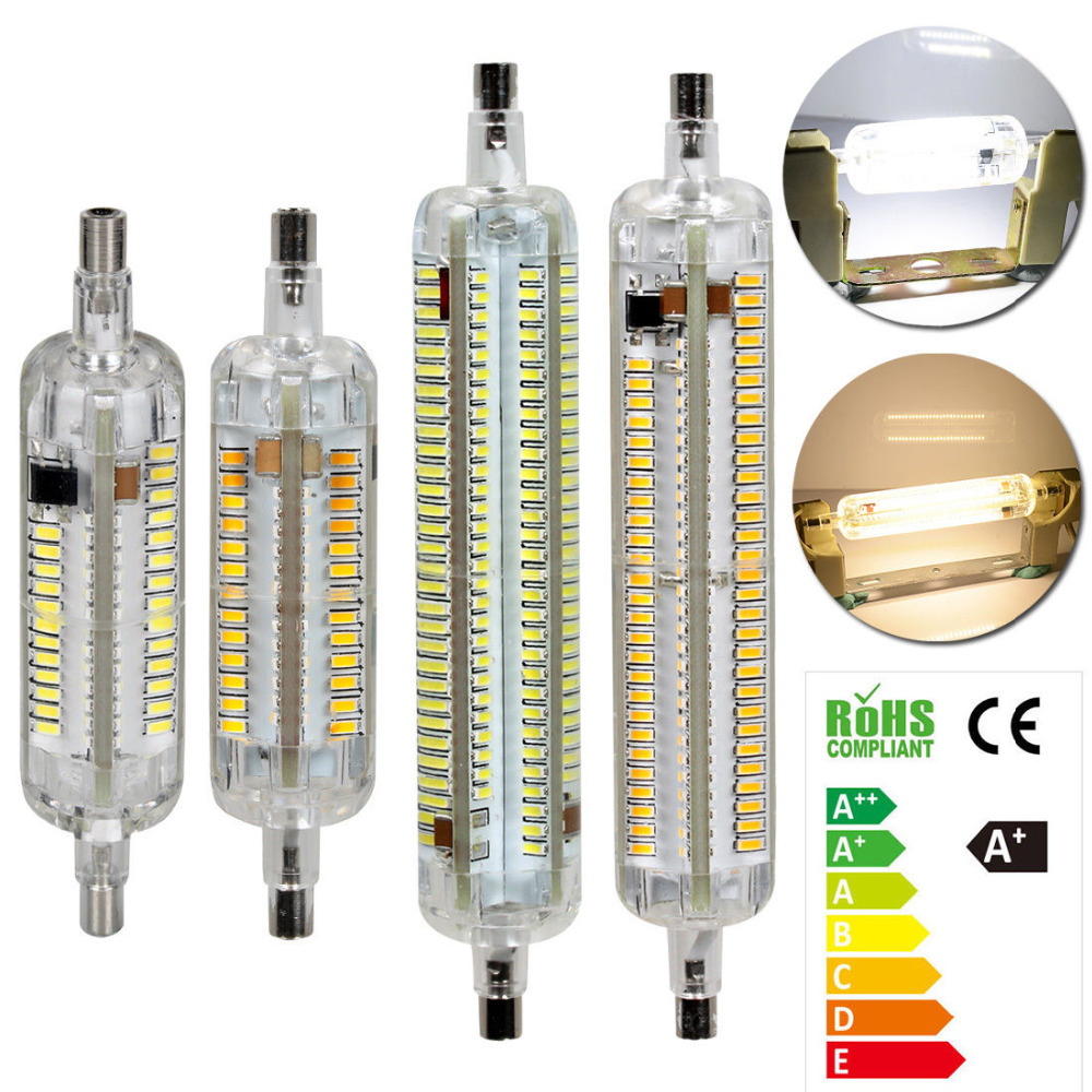 Silicone R7S LED Spotlight Light 10W/15W 78mm/118mm 3014 SMD Bulb Halogen Replacement Tube Decorative Flood Light Lamp 5w g9 45 x smd 3014 6500k silicone led corn lamp crystal spotlight bulb