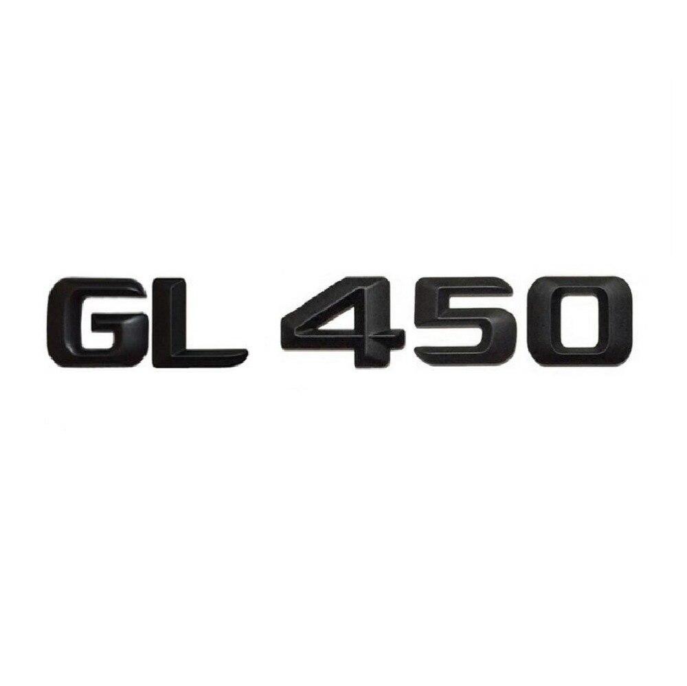 1 set matt black gl 450 car trunk rear letters words number badge emblem decal sticker for mercedes benz gl class gl450