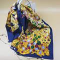 100% de Seda Twilly 90x90 cm Joyería Impreso Square Mujer Bufandas 2017 Primavera Mujer Bufanda de Lujo Marca Hijab Fourlard mantones Wraps S6