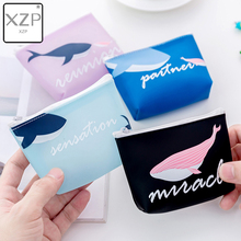 XZP Cute Cartoon Whale Pattern Coin Purse Card Holder PVC Leather Key Bag Sweet Small Wallet Mini Zipper Pocket Pouch Coin Purse цена