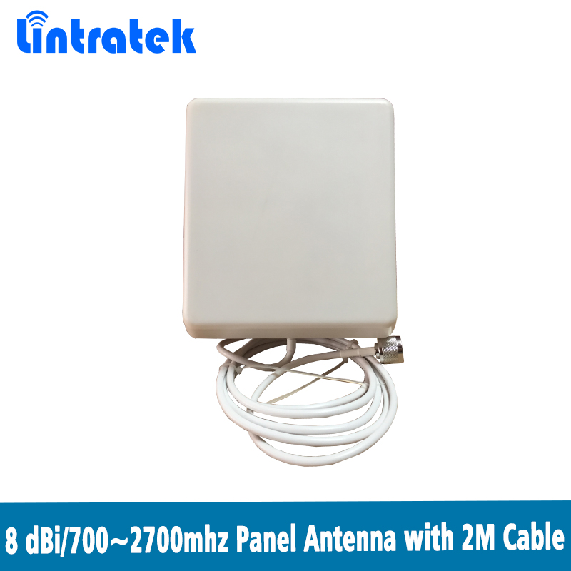 700~2700MHz  2G 3G 4G Indoor Panel Antenna With 2m Cable Indoor Antenna For Mobile Signal Booster 2G 3G 4G @6.6