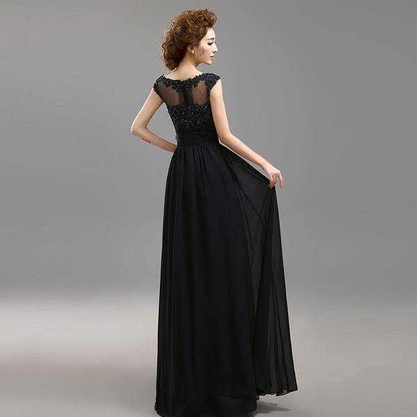 s 2016 new arrival stock maternity plus size bridal gown evening dress black  Blue Backless long lace bling sexy 499-in Evening Dresses from Weddings ... 52f1e55720cc