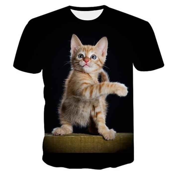 Новинка, футболка для мужчин/женщин, 3d принт, мяу, черный, белый, кот, хип-хоп, Мультяшные футболки, летние топы, футболки, модные 3d футболки, M-5XL - Цвет: txu-160