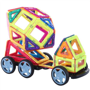 Image 2 - 47 129PCS Magnet Toy Building Blocks Magnetic Construction Sets Designer Kids education toddler Toys for children Christmas Gift