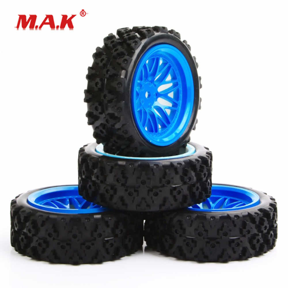 4x RC1:10 72mm RC On Road Rally Car Rubber Tires /& Wheel Rims 12mm Hex