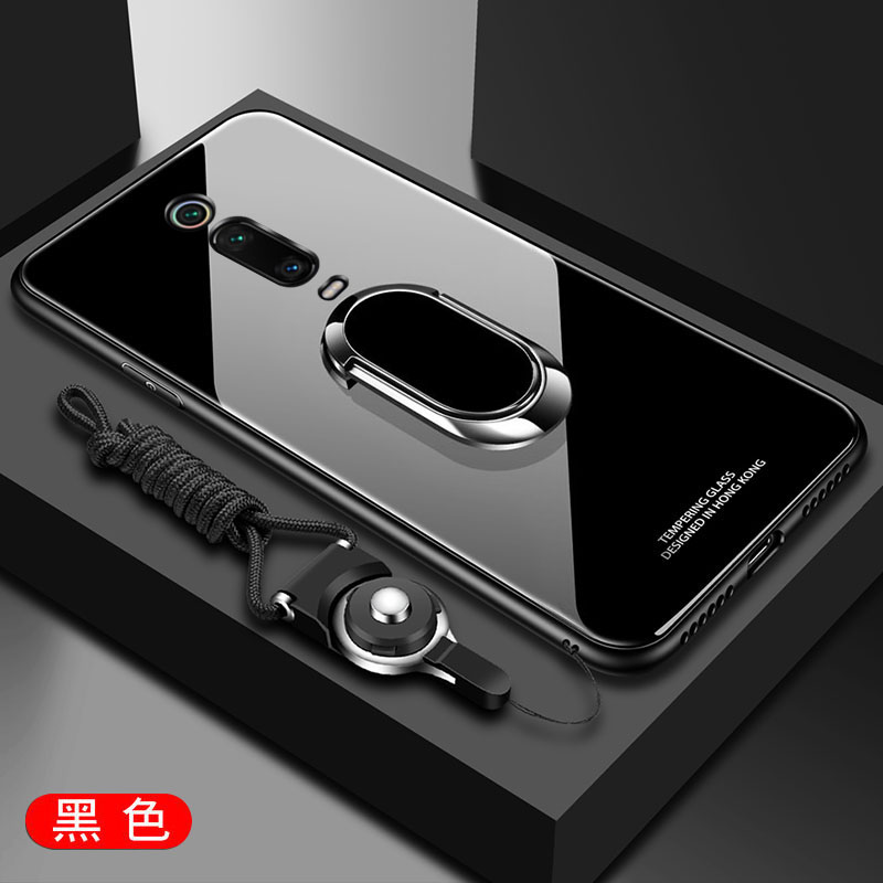 For Xiaomi Redmi K20 Pro Case Luxury Hard Tempered Glass With Stand Ring Magnet Protective Back Cover Case for xiaomi MI 9T Pro