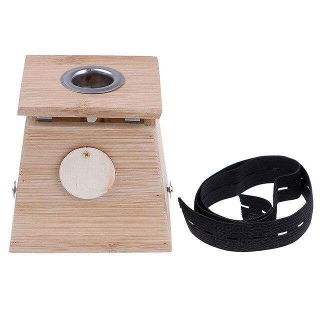 Moxibustion Box Bamboo Moxa Acupuncture Roller Stick Holder Neck Arm Body Acupoint Massage Moxibuting Therapy Holder Case