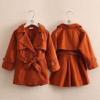 Baby Double breasted Windbreaker 2019 Autumn Winter New Girl Children's Dress Children's Lapel Coat Girl Coats Kids Kids Jacket