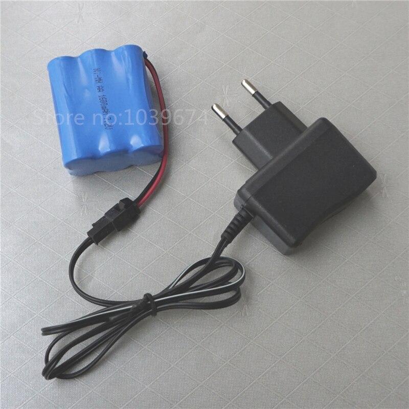 7.2 V 1600 MAH AA * 6 Ni-MH 3.6 V 4.8 V batteries rechargeables pour Source d'alimentation avec chargeur gratuit