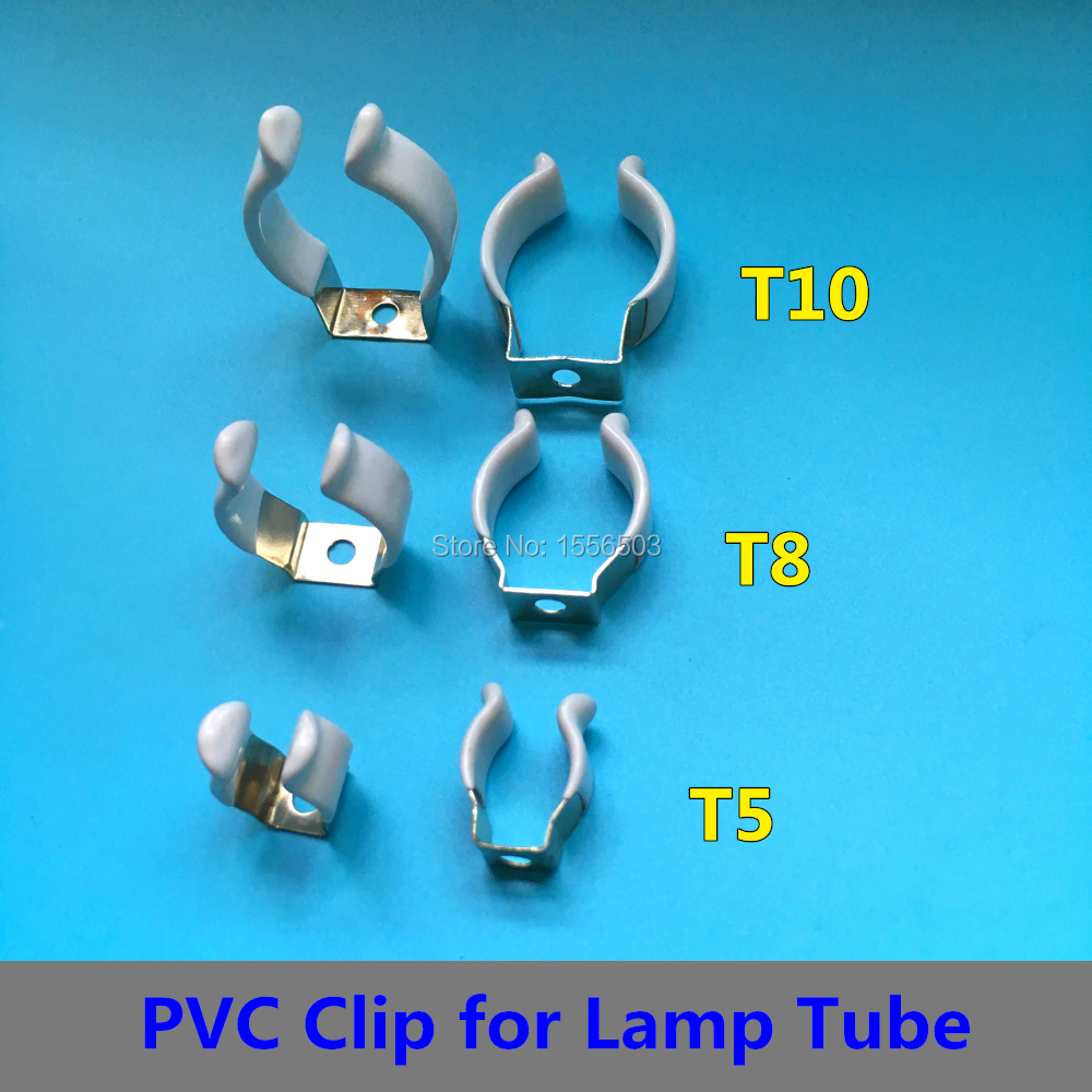 """1.5/"""" Terry Spring Clips 38mm Pipe Tool Storage 2x T12 Fluorescent Tube Holders"""