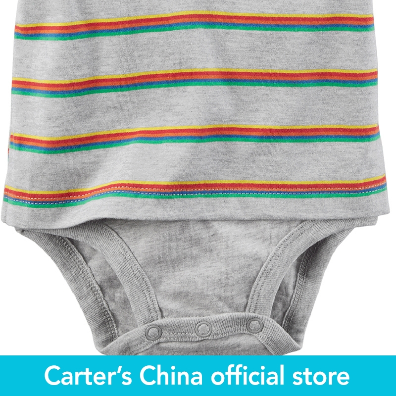 0432c7d40 Carter's 1 Piece baby children kids clothing Boy Summer Striped Double  Decker Polo Bodysuit 127G881-in Bodysuits from Mother & Kids on  Aliexpress.com ...