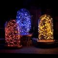 СВЕТОДИОДНАЯ Декоративная Настольная Лампа Звездное Небо Ночью Свет Твердой Древесины Стекло Творческий Подарок На День Рождения Бар Рождественских Свет