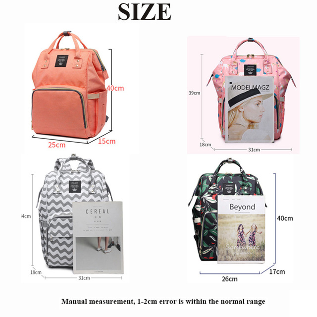Lequeen موضة المومياء الأمومة الحفاض حقيبة العلامة التجارية سعة كبيرة الطفل حقيبة حقيبة السفر مصمم حقيبة التمريض لرعاية الطفل 2