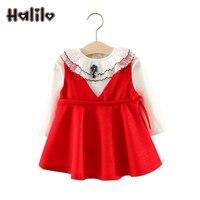 Halilo Baby Girl Clothing Set Long Sleeve T Shirt Dress 2pcs Baby Girl Autumn Sets 1st