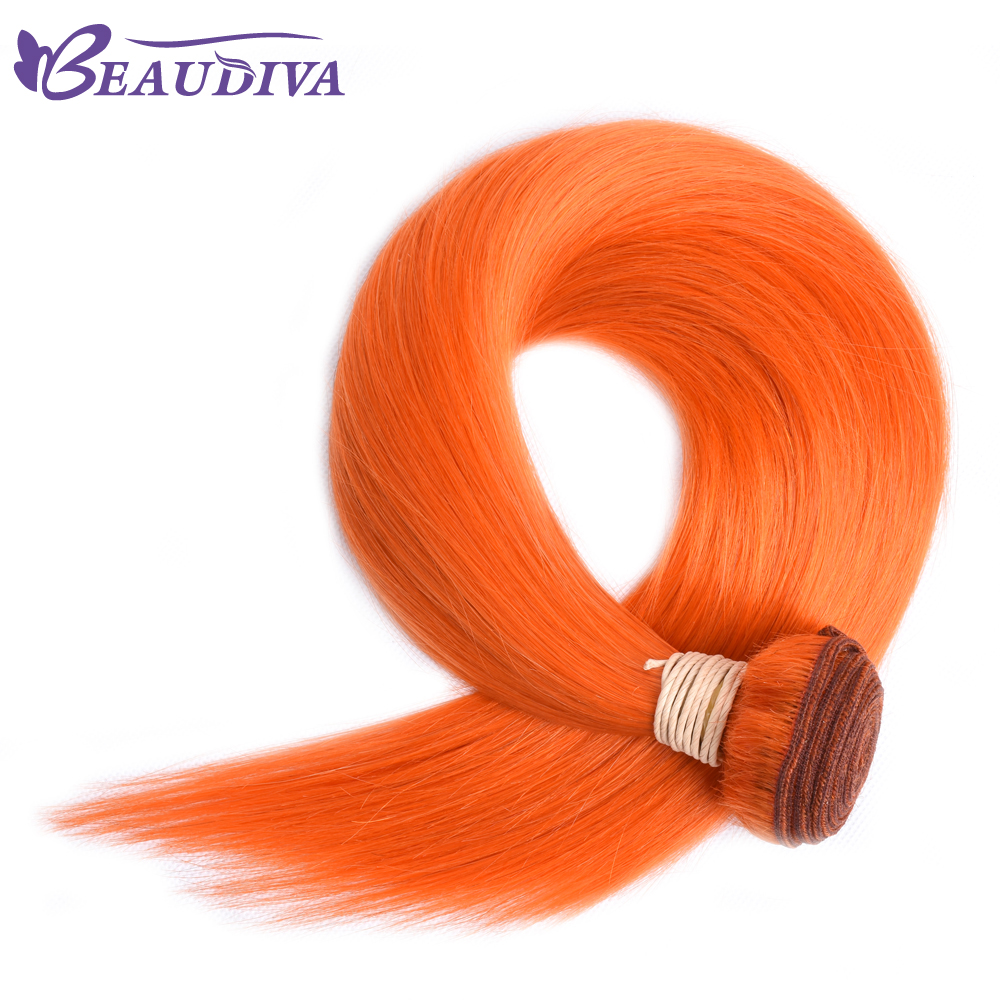 Beaudiva Pre Colored Human Hair Weave Straight Remy Hair Bundles
