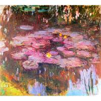 High quality handmade landscape oil painting on canvas 17 Water Lilies Claude Monet home picture decor modern art