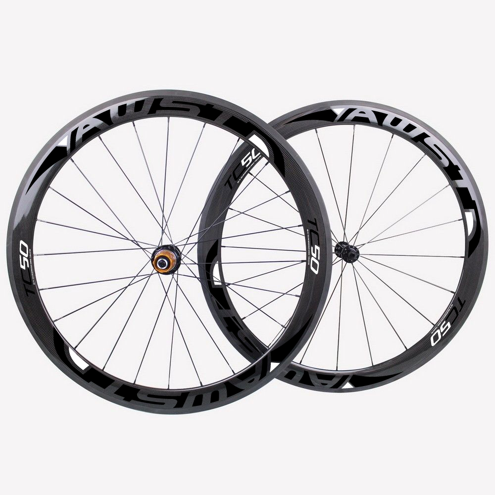 Both of carbon clincher wheelset 50MM bicycle wheels 700c with decal road bike wheelset 3K weave